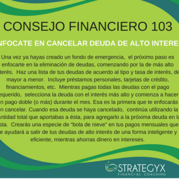 Financial Advice 103 (In Spanish only)