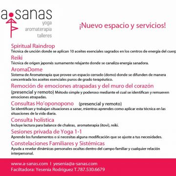 a-sanas new services and new space
